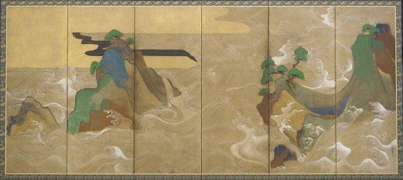 Waves at Matsushima by Tawaraya Sotatsu