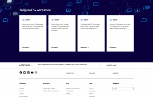 Redesigned BlackBerry Homepage, Resources Module